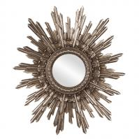 Chelsea Antique Starburst Silver Leaf Round Wall Mirror