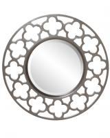 Howard Elliott Gaelic Round Brushed Nickel Mirror