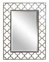 Howard Elliott Gaelic Rectangular Brushed Nickel Mirror