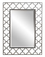 Howard Elliott Gaelic Rectangular Brushed Nickel Mirror