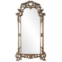 Imperial Mottled Bronze with Antique Silver Accents Oversized Ornate Mirror