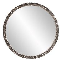 Memphis Round Bright Nickel Mirror
