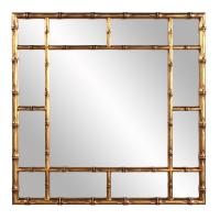 Bamboo Country Gold Square Mirror