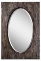 Uttermost Hichcock Rectangular Natural Wood Tone with Burnished Distressing Mirror