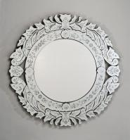 Afina Radiance Traditional Round Glass Mirror