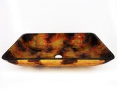 Legion Furniture Multi Colored Rectangular Glass Vessel Sink 146