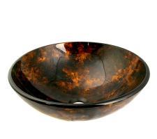Legion Furniture Multi Colored Round Glass Vessel Sink 154