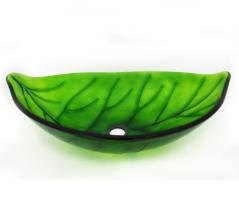 Legion Furniture Leaf Shaped Glass Vessel Sink