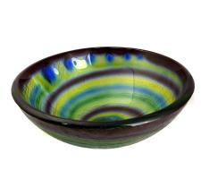 Legion Furniture Multi Toned Swirl Pattern Glass Vessel Sink
