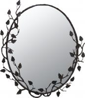 Oval Forged Iron Mirror with Choice of Finish
