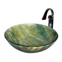 Yosemite Home Decor Marbled blues  greens Vessel Sink