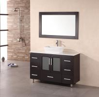 48 Inch Modern Single Sink Bathroom Vanity in Espresso