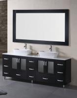 72 Inch Double Vessel Sink Bathroom Vanity in Espresso