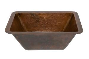 Rectangle Copper Prep Sink with 3.5 Inch Drain Size