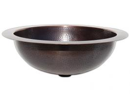 Copper Drop In or Undermount Sink Bowl