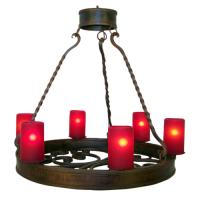 6 Light Hand Forged Wrought Iron Chandelier