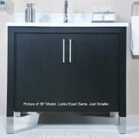 30 Inch Single Sink Modern Bathroom Vanity with Choice of Finish and Counter Top