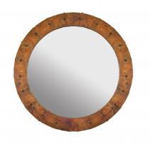Native Trails Tempered Copper Round Mirror