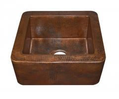 Native Trails Antique Copper Apron Front Bar and Prep Sink