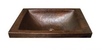 Copper Raised Profile Bathroom Sink