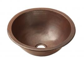 Copper Universal Mount Bathroom Sink