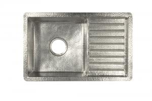 Brushed Nickel Copper Undermount Sink