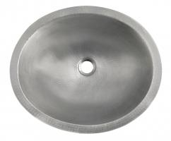 Native Trails Brushed Nickel Copper Undermount Bathroom Sink
