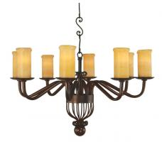 8 Light Cantabria Wrought Iron Chandelier