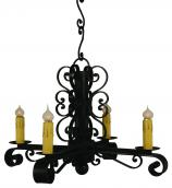 4 Light Colonial Chandelier