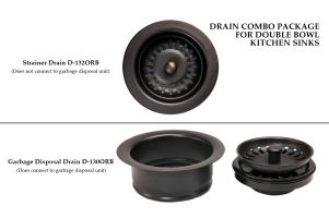 Drain Combination Package for Double Bowl Kitchen Sinks