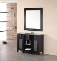 43 Inch Modern Single Sink Bathroom Vanity in Mahogany