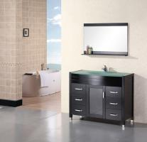 48 Inch Modern Single Sink Bathroom Vanity with One Door and Six Drawers