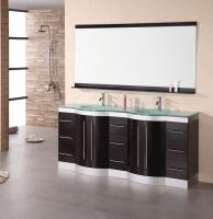 72 Inch Modern Double Sink Bathroom Vanity with Mirror and Faucets