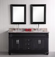 61 Inch Double Sink Vanity in Espresso