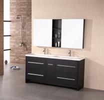 Design Element Co. 63 Inch Double Sink Bathroom Vanity