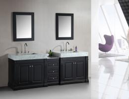 88 Inch Double Sink Bathroom Vanity in Espresso