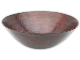 Round Hammered Surface Copper Vessel Sink