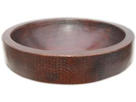 Semi Recessed Dark Copper Vessel Sink