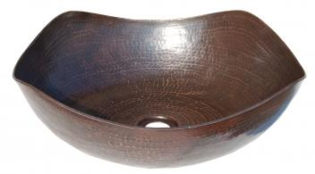 Arched Edges Copper Vessel Sink