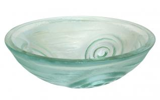 Eden Bath Clear Swirls Glass Vessel Sink