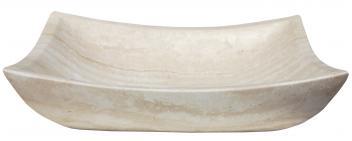 Deep Zen White Travertine Vessel Sink