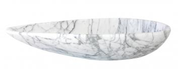 Eden Bath Pod Shaped White Marble Vessel Sink