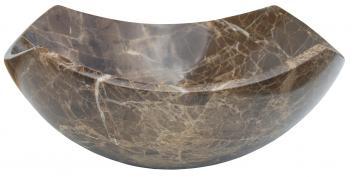 Arched Edges Dark Emperador Bowl Vessel Sink