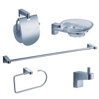 5-Piece Bathroom Accessory Set in Chrome
