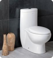 One Piece Dual Flush Toilet with Soft Close Seat