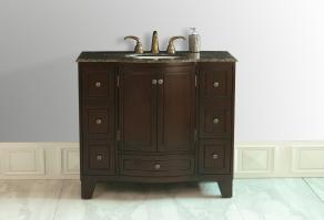 40 Inch Single Sink Bathroom Vanity with Choice of Top