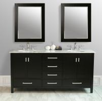 72 Double Sink Bathroom Vanity with Choice of Top