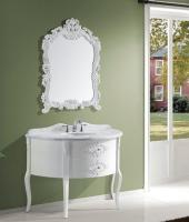 Virtu USA 48 Inch Single Sink Vanity With White Finish and Italian Carrera Marble Top