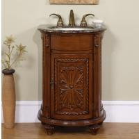 24 Inch Small Single Sink Vanity with Granite