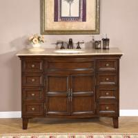 48 Inch Antiqued Single Sink Bathroom Vanity